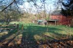 Red barn and wildlife enclosures at Sweetbriar Nature Center, Smithtown, Long Island