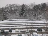 Long Island Rail Road station parking lot, Smithtown, NY, March 1, 2005